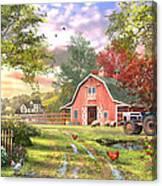 Old Farm House Variant 1 Canvas Print