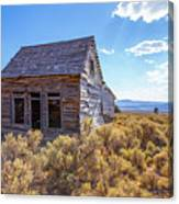 Old Farm House Widtsoe Utah Ghost Town Canvas Print