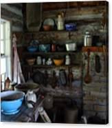Old Farm Kitchen Canvas Print