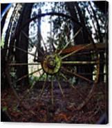 Old Farm Wagon Wheel Canvas Print