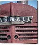 Old Farmall Tractor Grill And Nameplate Canvas Print