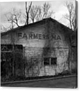 Old Farmer's Market Shed Canvas Print