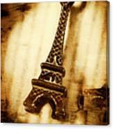 Old Fashion Eiffel Tower Souvenir Canvas Print