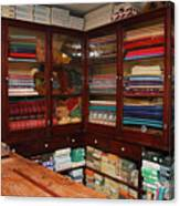 Old-fashioned Fabric Shop Canvas Print