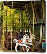 Old-fashioned Merry-go-round Canvas Print