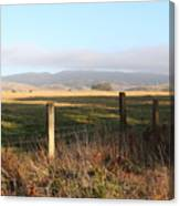 Old Fence And Landscape Along Sir Francis Drake Boulevard At Point Reyes California . 7d9965 Canvas Print