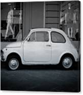 Old Fiat On The Streets Of Florence Canvas Print