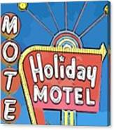 Old Fifties Vegas Hotel Sign Painting Canvas Print