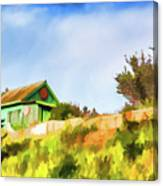 Old Fisherman's House On The Hill Canvas Print