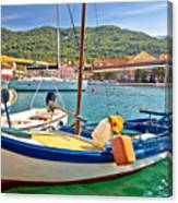 Old Fishermen Harbor Of Stari Grad Canvas Print