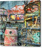 Old Fishing Gear Canvas Print
