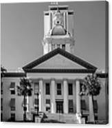 Old Florida Capitol In Black And White  Canvas Print