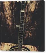 Old Folk Music Banjo Canvas Print