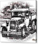 Old Ford Homemade Pickup Canvas Print