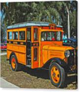 Old Ford School Bus No. 32 Canvas Print