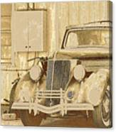 Old Ford Sketch Canvas Print