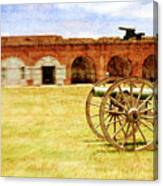 Old Fort And Cannon Still Liife Canvas Print