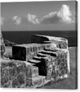 Old Fort Steps 2 Canvas Print