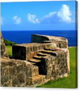 Old Fort Steps Canvas Print