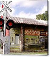 Old Freight Depot Perry Fl. Built In 1910 Canvas Print