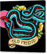 Old Friend Red-sided Gartersnake Canvas Print