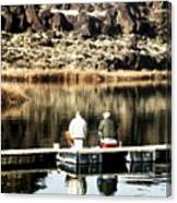 Old Friends Fishing Canvas Print