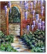 Old Garden Gateway Canvas Print