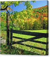 Old Gate At East Orange Canvas Print