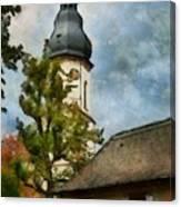 Old German Church Tower Canvas Print