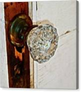 Old Glass Doorknob Canvas Print
