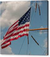 Old Glory Flying Over Eagle Canvas Print