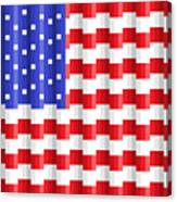 Pixilated Old Glory Canvas Print
