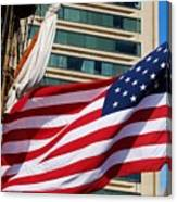 Old Glory In Baltimore Canvas Print