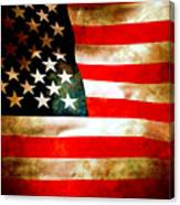 Old Glory Patriot Flag Canvas Print