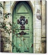 Old Gothic Door Canvas Print