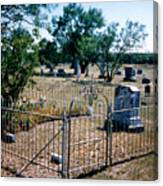 Old Grave Site 2 Canvas Print