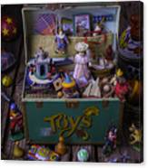 Old Green Toy Box Canvas Print