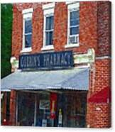Old Guerins Pharmacy Canvas Print