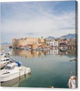 Old Harbour Of  Kyrenia, In Cyprus Canvas Print