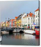 Old Harbour Of Nyhavn  Canvas Print