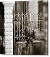 Old Heart Gate Canvas Print