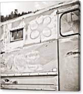 Old Hippie Peace Van Canvas Print