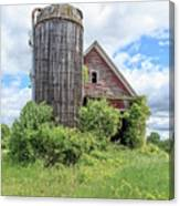 Old Historic Barn In Vermont Canvas Print