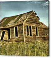 Old Home Falling In Canvas Print