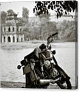 Old Honda In Hanoi Canvas Print