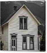 Old House And Dandelions Canvas Print