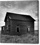 Old House In A Barren Field Canvas Print