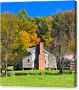 Old House In Cades Cove Tn Canvas Print