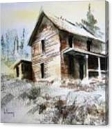 Old House Marysville Ghosttown Montana Canvas Print