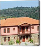 old house Sithonia Greece summer vacation scene Canvas Print